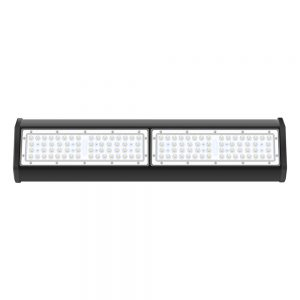 Modular design aluminum body black housing 100W LED grow light bar fixture